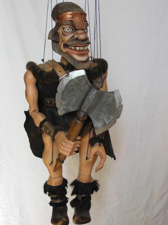 Viking marionnette poupée