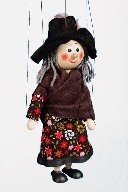 Sorcière marionnette poupée