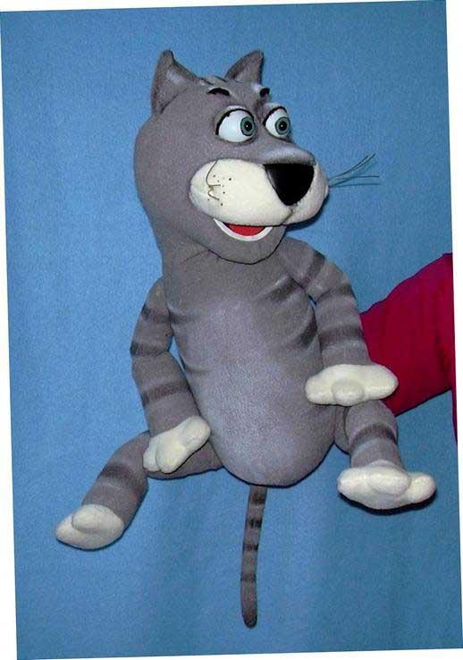 Chat marionnette poupée