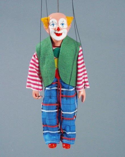 Clown marionnette poupee