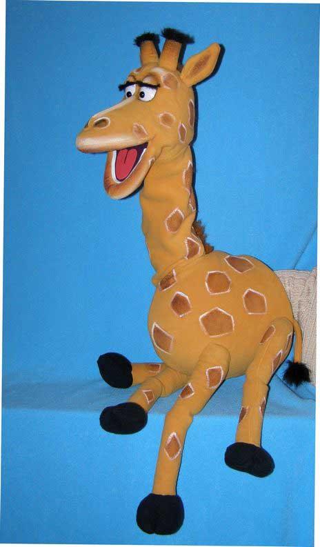 Girafe marionnette poupée