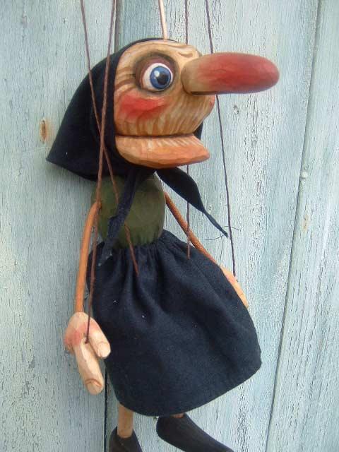 Grand-mère , marionnette poupée