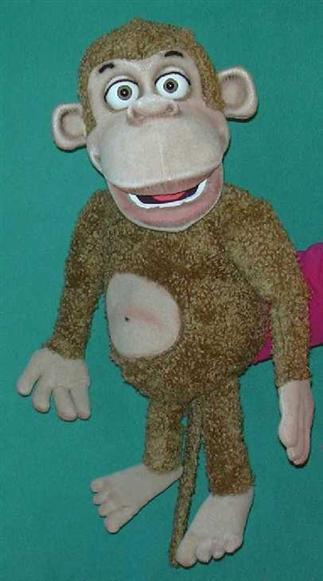 Guenon marionnette poupée