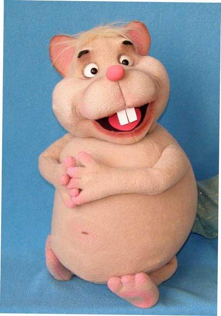 Hamster marionnette poupée