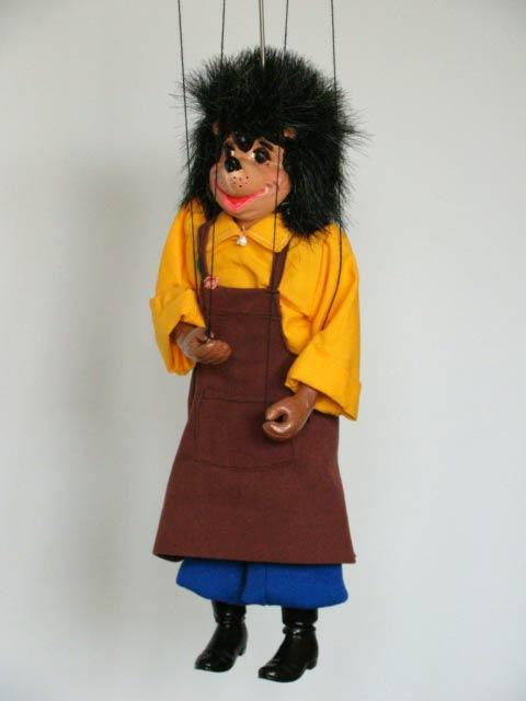 Hérisson marionnette poupée