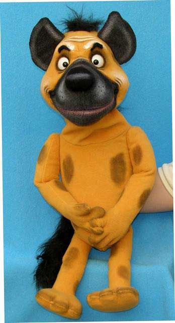 Hyene marionnette poupée