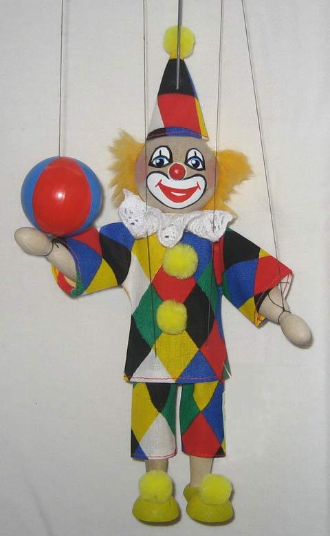 Clown marionnette poupée