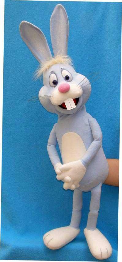 Lapin marionnette poupée