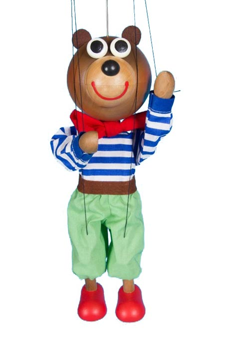 Ourson Balu, marionnette en bois
