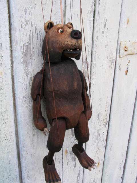 Ours brun marionnette poupée