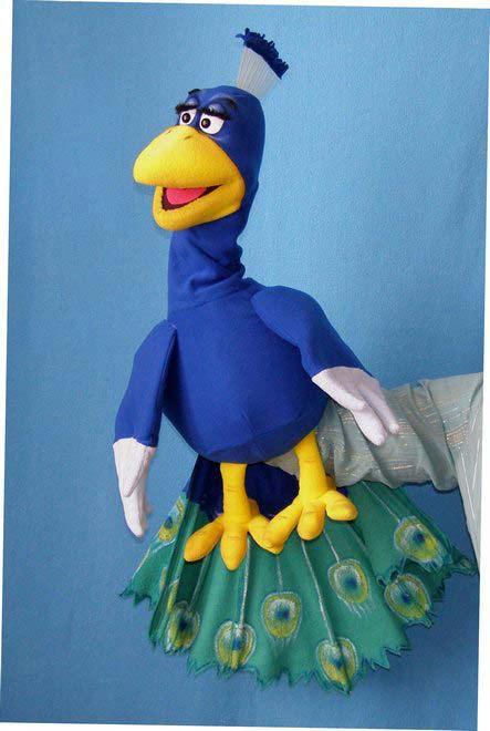Paon marionnette poupée