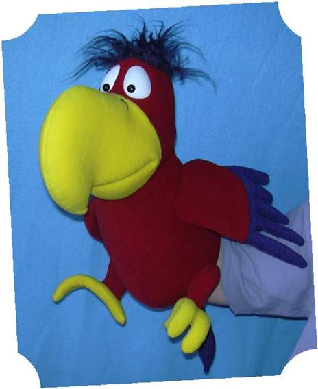 Perroquet marionnette poupée