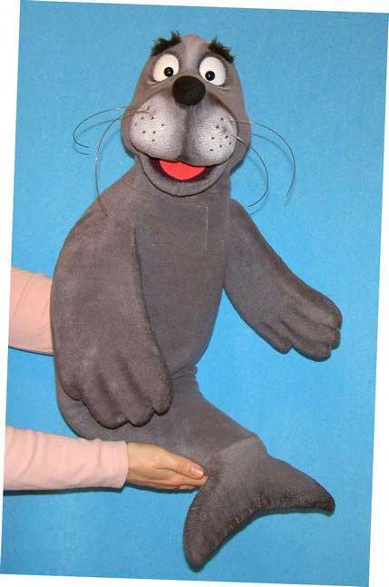 Phoque marionnette poupée