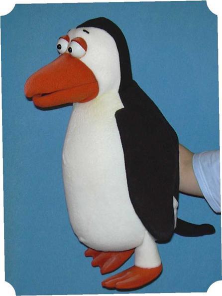 Pingouin marionnette poupée