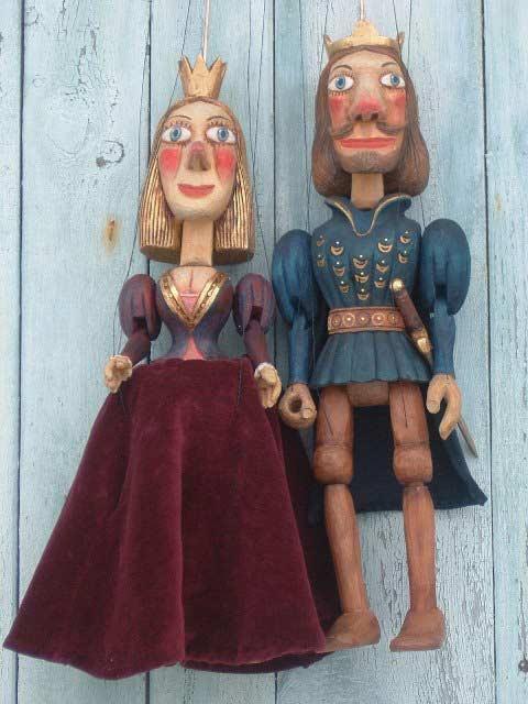 Prince et princesse marionnettes