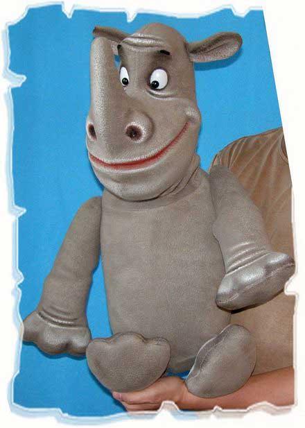 Rhinocero marionnette poupée