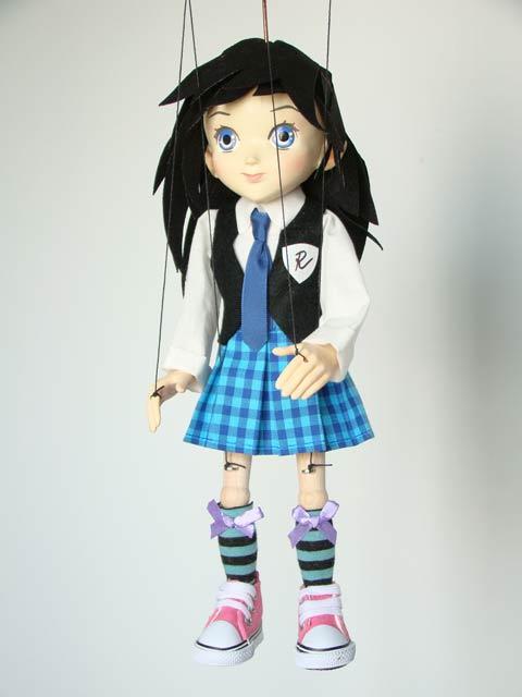 Anime, étudiant d'anime marionnette