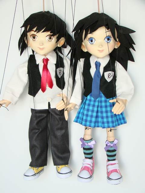 Anime, étudiant d'anime marionnettes