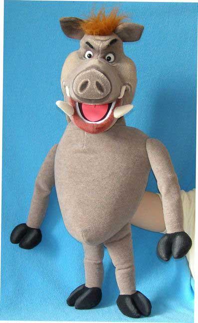 Sanglier marionnette poupée
