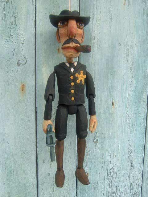 Shérif marionnette poupée