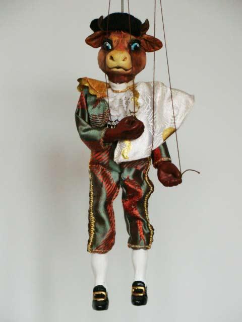 Taureau torero marionnette poupée