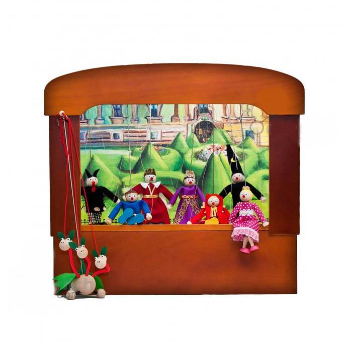 Théâtre de marionnettes familiales nostalgiques