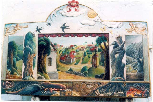 """Théâtre de marionnettes de collection """"Bouffon"""""""