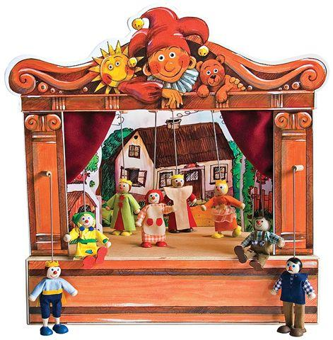 Théâtre de Marionnettes et 8 marionnettes
