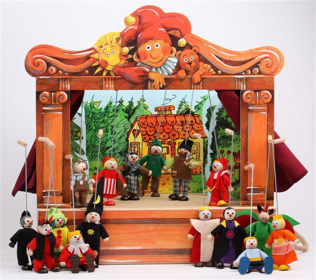 Théâtre de Marionnettes maxi et 16 marionnettes