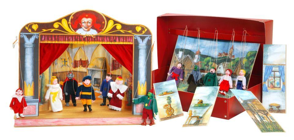 Théâtre de Marionnettes et 12 marionnettes