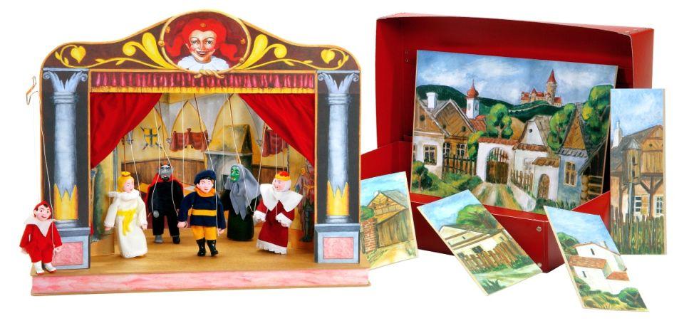 Théâtre de Marionnettes et 6 marionnettes