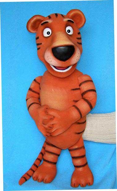 Tigre marionnette poupée