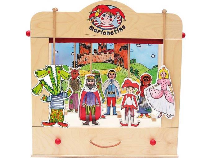 Théâtre de Marionnettes familiales en bois