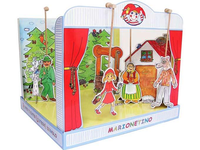 Théâtre de marionnettes carton Le Petit Chaperon rouge