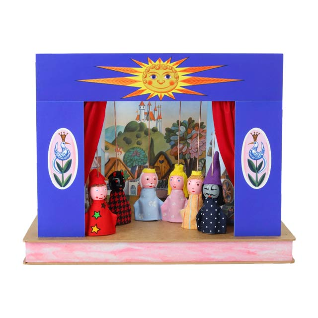 Théâtre de Marionnettes et 12 marionnettes Soleil