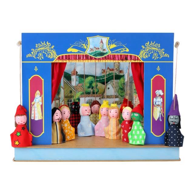 Théâtre de Marionnettes et 12 marionnettes Serrure