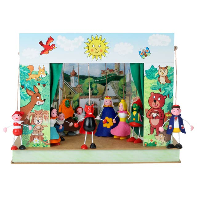 Théâtre de Marionnettes et 6 marionnettes Forêt