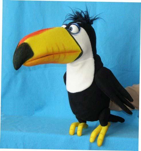 Toucan marionnette poupée