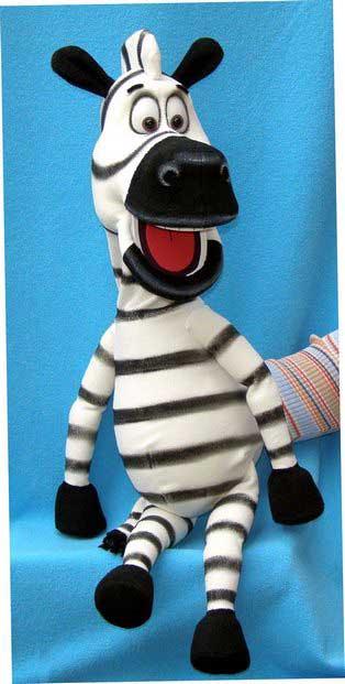 Zebre marionnette poupée