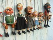 Collection 6 marionnettes poupées