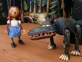 Chaperon Rouge et loup marionnette poupée