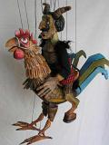 Diable sur coq marionnettes