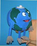 Globe marionnette poupée