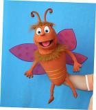 Papillon marionnette poupée