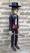 Zorro marionnette en bois