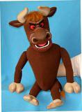 Bison marionnette poupée