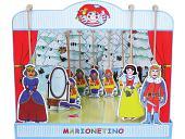 Théâtre de marionnettes carton Blanche-Neige